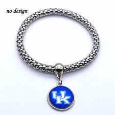 University of Kentucky Wildcats Logo Bracelet Silver Stretch Free Tracking New