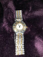 CARTIER 18K Gold & SS Ladies Must de Cartier 21 Quartz Dress Watch c.1990s Y124