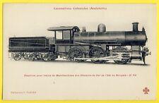 cpa LOCOMOTIVE Machine for Goods Train English Colony RAILWAY BENGALE BANGLADESH