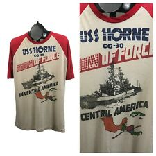 1980s Souvenir T Shirt / USS Horne In Central America Novelty Graphics Tee M/L