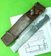 US WW2 Australia Australian Made Survival Machete Knife w/ Sheath