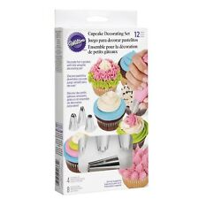WILTON 12 PIECE CUPCAKE CAKE DECORATING SET KIT PIPING TIPS BAGS INSTRUCTIONS