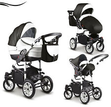 """3 in 1 Kinderwagen """"Cosmo"""" in 44 Farben ✔ Autositz ✔ 360° bewegliche Vorderräder"""