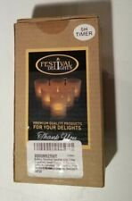 timer flameless candles by - premium ic-controlled soft flickering votive