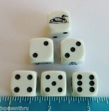 KOPLOW'S LOON DICE - ONE SET OF *SIX* 16mm DICE - GET A LITTLE *LOONY!*
