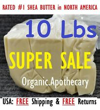 10 lbs Raw African Shea Butter IVORY 100% Pure Unrefined Organic Bulk Wholesale