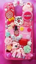pink Rainbow pony decoden bling handmade case fo Samsung Note 5 or OTHER models