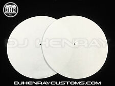 plain white Dj Slipmats (pair) sl1200mk2 mk5 m3d m5g Technics or any turntable