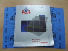 Starcke Matador Wet and Dry Paper. A Weight 1 Pk 10 sheets. Mix of P1200 & P1500