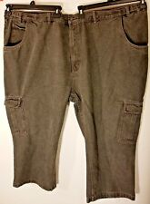 The Haband Tailgater Mens Jeans 58XS Carpenter Black Stretch band Fit Forever