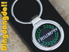Triumph Chrome Keyring Key Ring Gift Spitfire Dolomite TR7 Acclaim