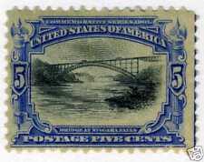 1901 5c Bridge Niagara Falls (SC# 297) UNUSED OG H