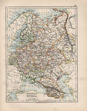 1899 VICTORIAN MAP ~ EUROPEAN RUSSIA ~