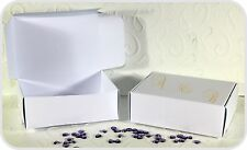 Personalized 50 Party Wedding Cake Favour Boxes 90mm x 65mm x 28mm White