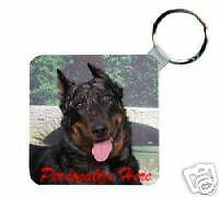 Beauceron Personalized Breed Key Chain