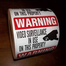 SECURITY CCTV SURVEILLANCE VIDEO SPY CAMERA IS IN USE CAMERA WARNING STICKER LOT
