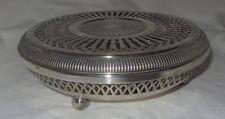 Ancien chauffe plat métal argenté plate warmer