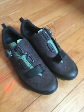 Fizik Terra X5 Suede SPD Cycling Shoes | Size 41.5 | Brown / sage green / black