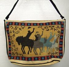 Purse Western Design Bucking Bronco and Brands Cotton Stencil Shoulder Strap