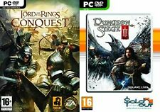 El Señor de los anillos conquista & Dungeon Siege III 3 Nuevo y Sellado