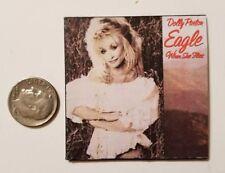 "Miniature record album Barbie Gi Joe  Playscale1/6  2""  Dolly Parton Eagle Flys"