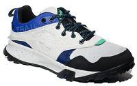 Timberland Men's Garrison Trail Waterproof Hiking Sneakers Gray Blue Style A252N