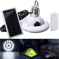 22LED Outdoor/Indoor Solar Lamp Hooking Camp Garden Path Light Remote Control