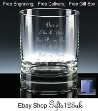 Personalised 12oz Whisky/ Spirit Glass, Godfather, Godmother Gift, Christening