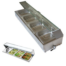 4pans Electric Food Warmer With Transparent Cover Bain Marie Buffet Pot 12 Size