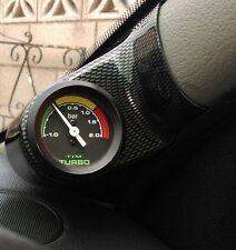 CLIO Mk2,ALL MODELS.CARBON FIBRE EFFECT O/S A PILLAR POD,MOUNT FOR 52MM GAUGE,