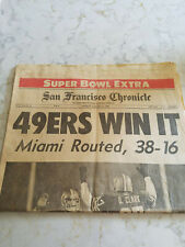 San Francisco Chronicle Newspaper 49ERS WIN SUPER BOWL 1985 v Miami Dolphins