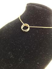 NATURAL POLISHED DIAMOND TCW0.15 CIRCLE PENDANT NECKLACE18k ROSE GOLD