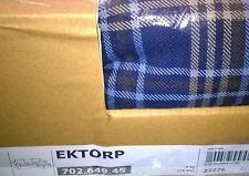 NEU IKEA Bezug EKTORP 2er Sofa + Recamiere RUTNA BUNT Karo blau braun kariert