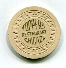 New listing $5 Toppers Restaurant Chicago Illinois Illegal Gambling Chip Al Capone