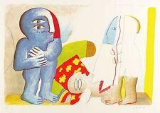 Horst antes-par con muerto personaje-cromolitografía 1965
