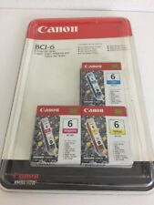 Genuine Canon Printer Color Multi-Pack Ink BCI-6 - New in Sealed Package!