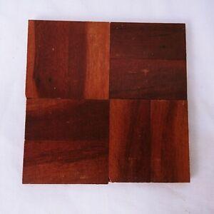 "Reclaimed Parquet Flooring Zimbabwe Rhodesian Teak Wood Square 6"" X 6"" Lot Of 44"