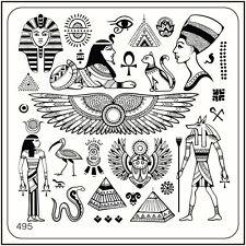 Imagen De Arte Estampado Cuadrado Moyou placa 495 Egipto estilo, Pirámide, Faraón, símbolo