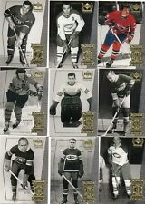 9-montreal canadians retro card lot henri richard savard harvey robinson moore +