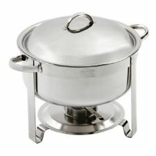 More details for olympia chafing set food warmer in silver - 7.5l - packed 420(h)x340(w)x330(d)mm