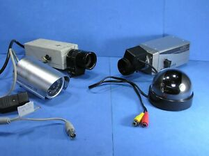 Four CCTV Cameras & two Motorised Lenses