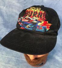 Vintage Power to Burn Baseball Cap Black Embroidered Racecar Snapback Nascar
