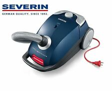 New Severin Germany Bagged Canister Vacuum Cleaner Corded Hard Floor Ocean Blue