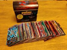 Spiderman Heroes And Villains Trading Card full 300 set, includes storage tin.