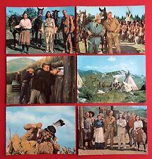 6 x AK FILM Der Schatz im Silbersee 1962 Winnetou Pierre Brice, Lex Barker( 6109