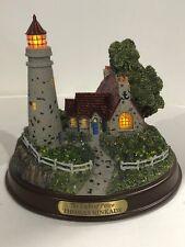 Thomas Kinkade Lighthouse Light of Peace With Box And Coa