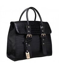 Bessie London Moc Croc Two Handled Tote Bag Various Colours