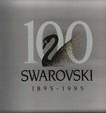 Swarovski Silver Crystal 1895 - 1995 100 years Dealer Plaque Square