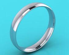 Gents Wedding band ring 4mm Hatton garden Hand made Platinum 950 mens court shpe