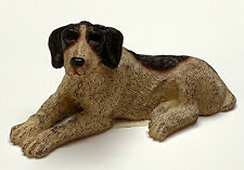 German Shorthaired Pointer Dog Mini Figurine Statue HandPainted Living Stone